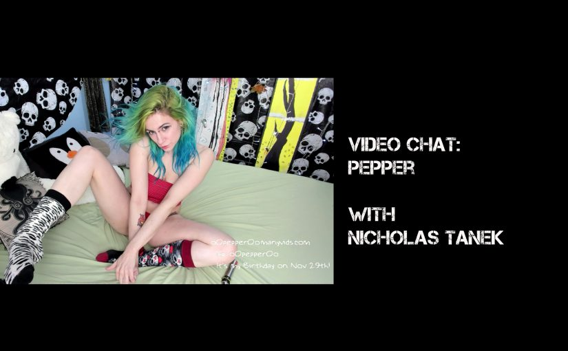 VIDEO CHAT: Pepper with Nicholas Tanek